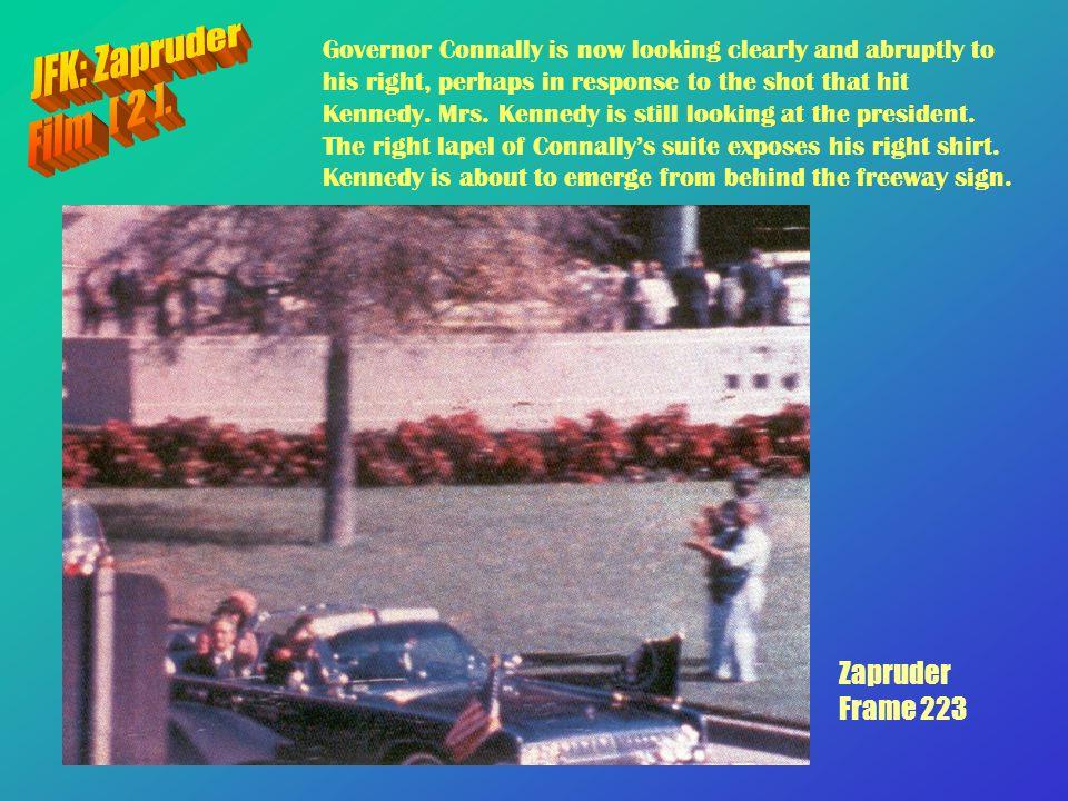 JFK: Zapruder Film [ 2 ]. Zapruder Frame 223